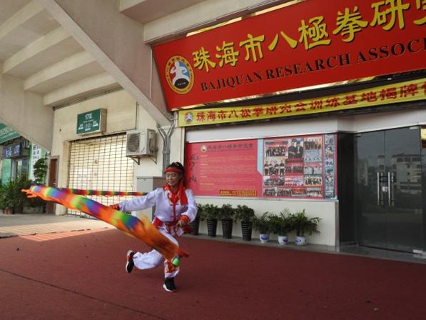 刘霞空竹舞五米龙创世界纪录