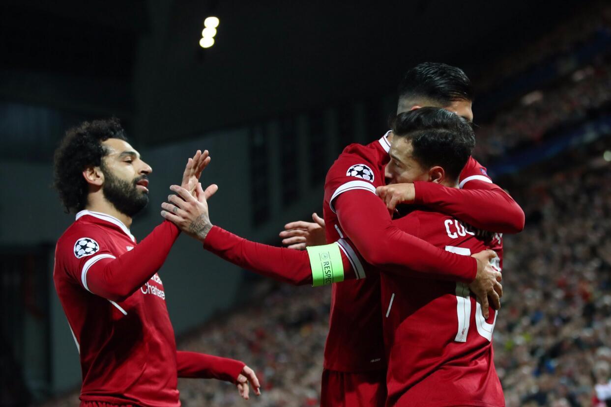 欧冠-库鸟戴帽萨拉赫马内破门 利物浦7-0锁头名