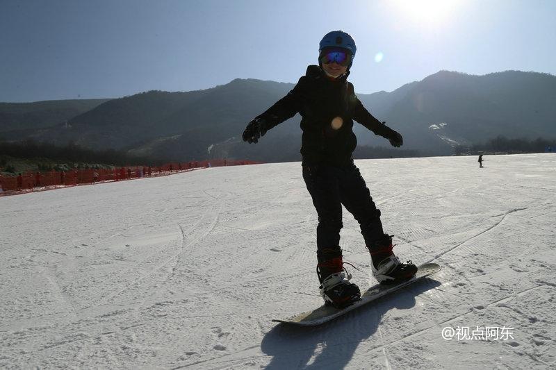 太白鳌山滑雪场初体验  在摔跤中享受大美风光 - 视点阿东 - 视点阿东