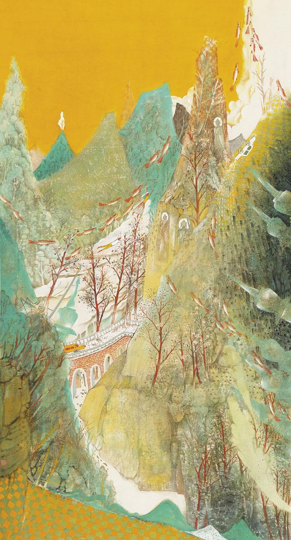 刘洪海、付玉峰、吴玉萍山水画作品展在河南省美术馆开展
