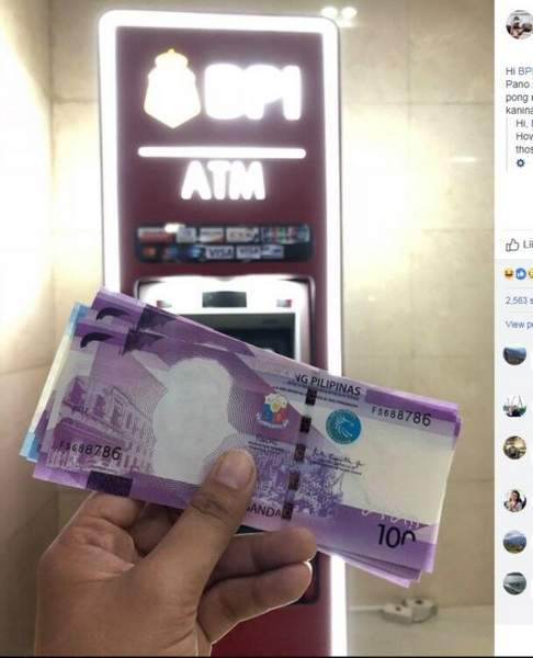 """菲民众取款机取出""""无头""""钞 仅33张流入市场"""