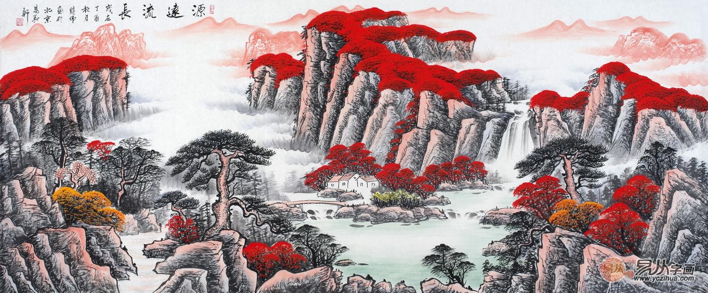 室内墙面装饰画色彩方案,这样的山水画色彩你见过吗?
