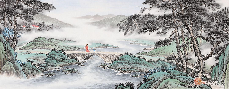客厅里挂什么字画好?传统国画山水艺术美感足