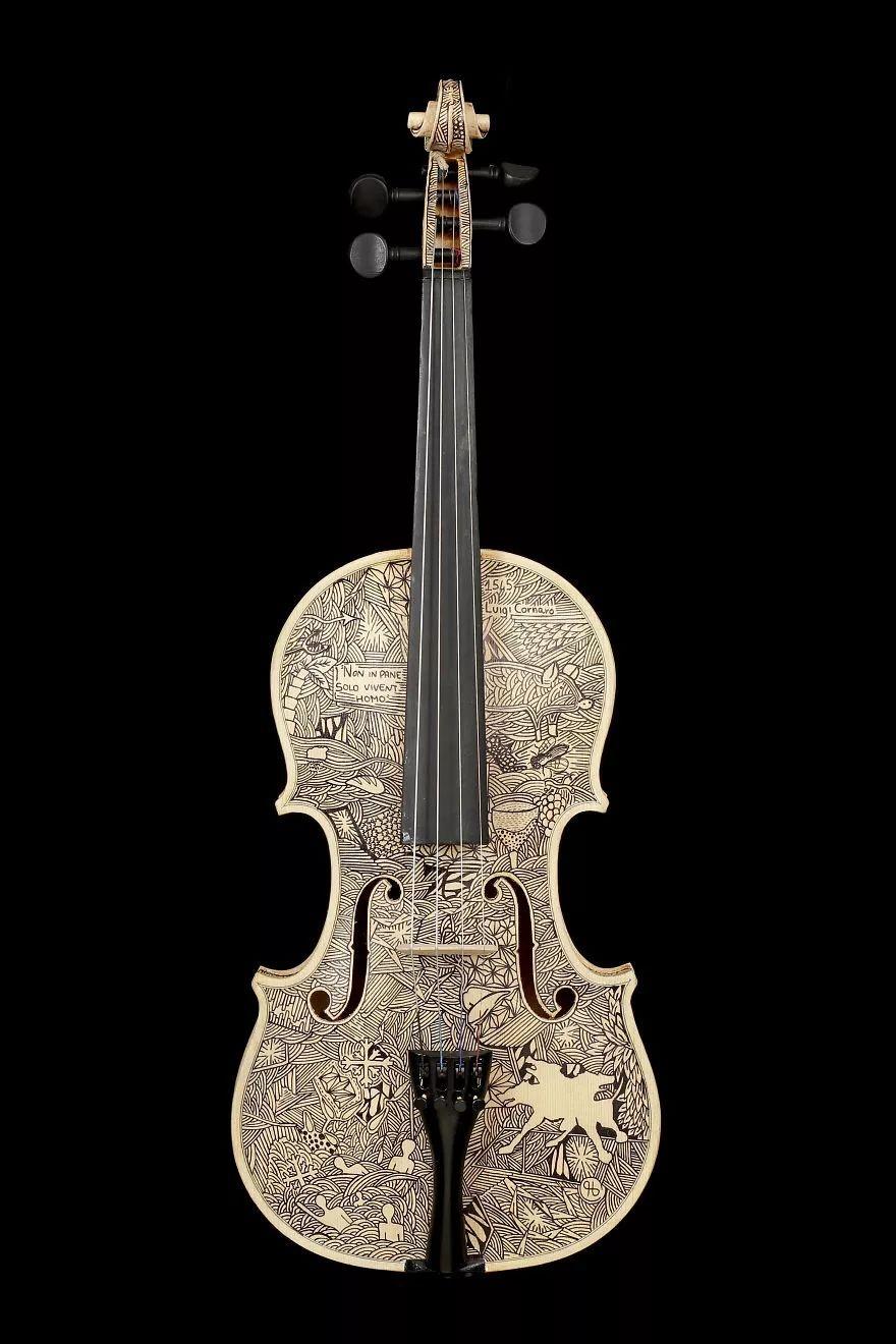 英国艺术家_Leonardo Frigo_画笔下的提琴插图(12)