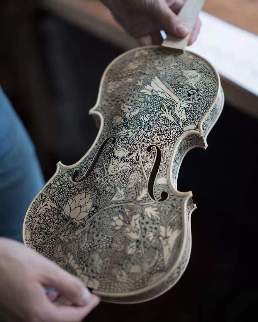 英国艺术家_Leonardo Frigo_画笔下的提琴插图(6)