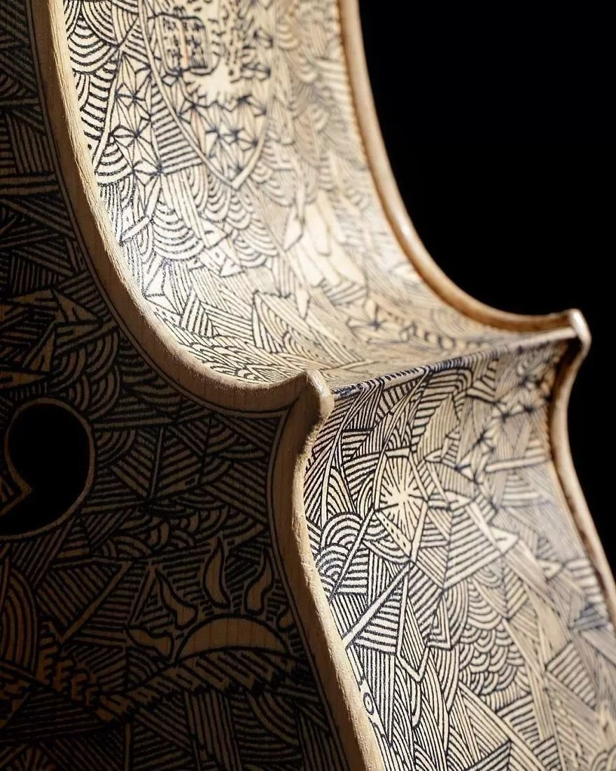 英国艺术家_Leonardo Frigo_画笔下的提琴插图(4)