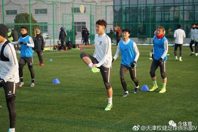 权健两U21新人正式到队训练 亚冠前将热身申花