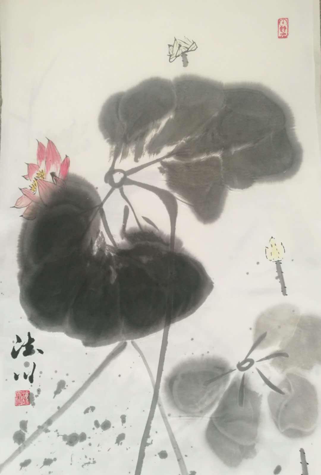书画名家普陀山普济寺释法川作品欣赏