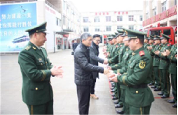 区领导莅临北仑消防大队进行春节慰问