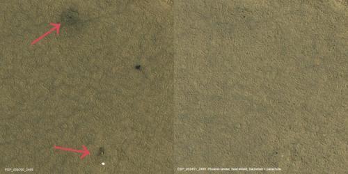 """10年后的凤凰号火星着陆器布满灰尘的""""坟墓""""被发现!"""