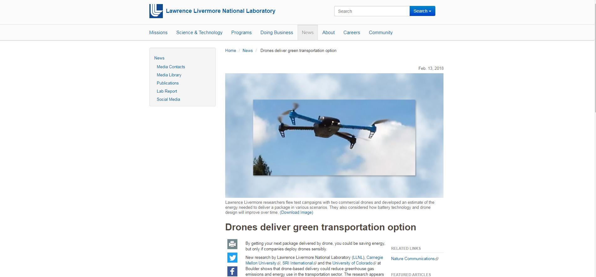美国能源实验室情景分析,无人机或可减少运输业能耗