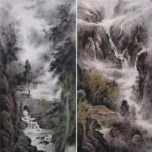 中国当代书画名家张美金作品欣赏