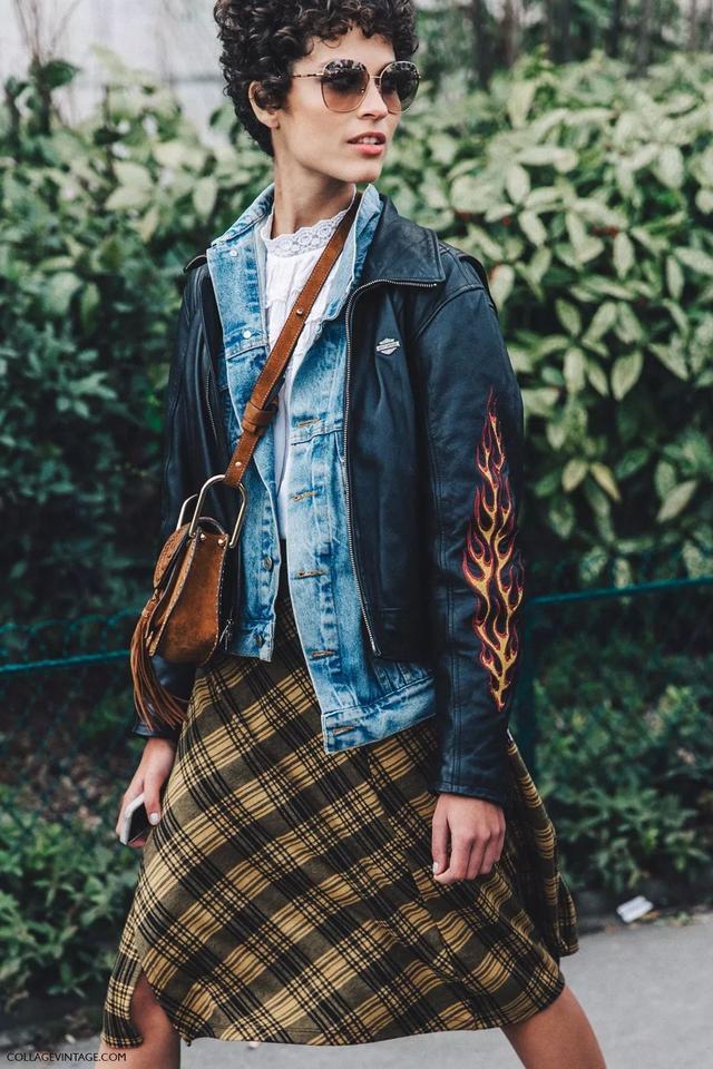 怕撞衫?5招教你如何将经典的牛仔外套穿出新鲜感!插图2