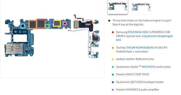 三星S9拆解/虐机出炉:双摄秘密揭晓、额头并无黑科技的照片 - 5
