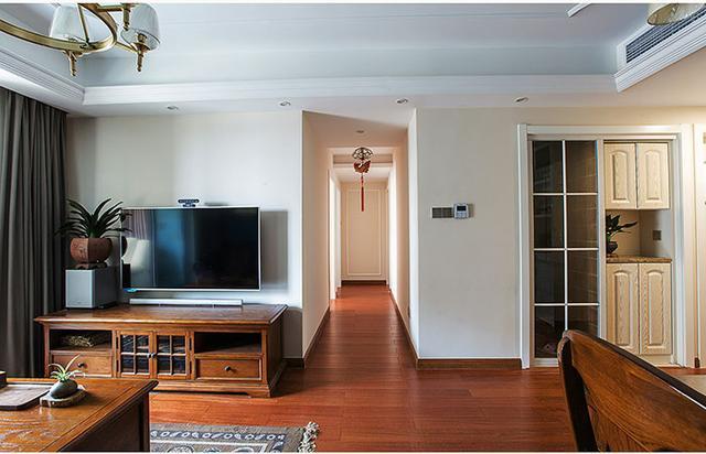 长沙朋友新房132平米美式装修
