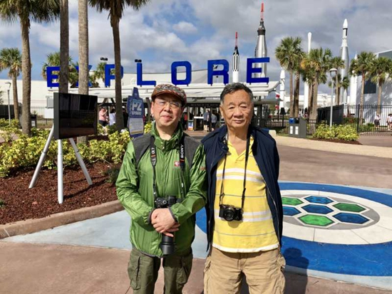 画家华奎随团美国东南海岸摄影采风