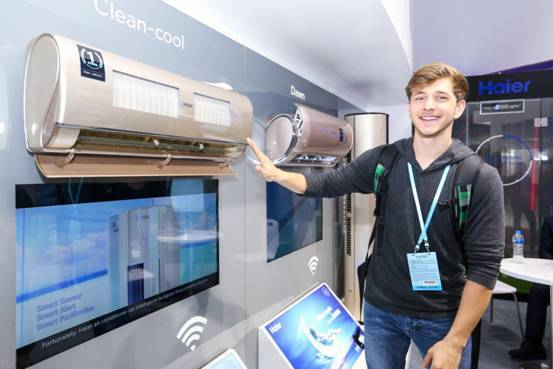 广交会展硬件是主流 物联网时代空调第1品牌海尔展空气