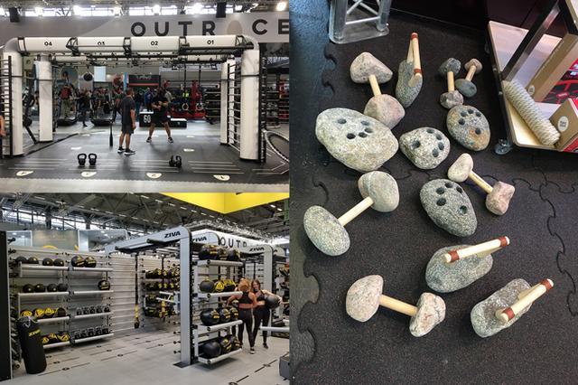 开展第一天567GO健身教练培训校长考察团的团员们参观会场