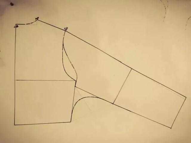 连肩袖打版的结构原理