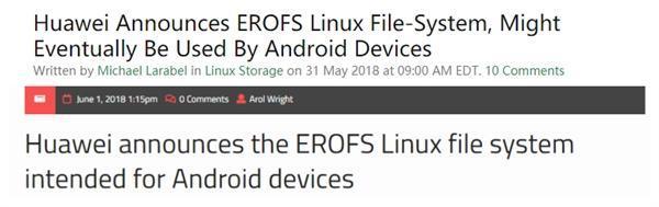 吓人技术是它?华为演示安卓新文件系统EROFS的照片 - 2