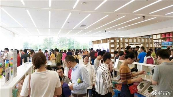 雷军晒中国最大小米之家旗舰店:6月16日正式开业的照片 - 2
