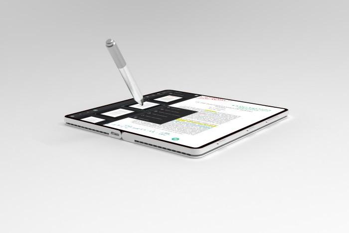 设计师打造微软折叠概念机Surface Phone的照片 - 9