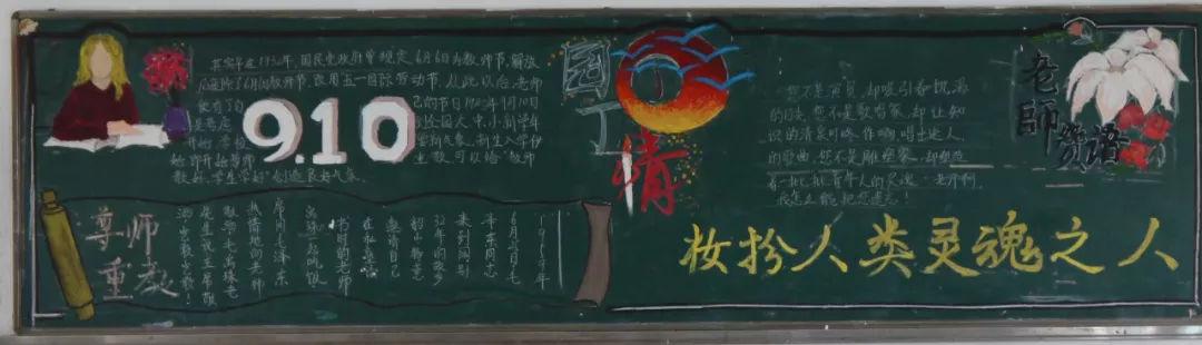 关于教师节主题黑板报