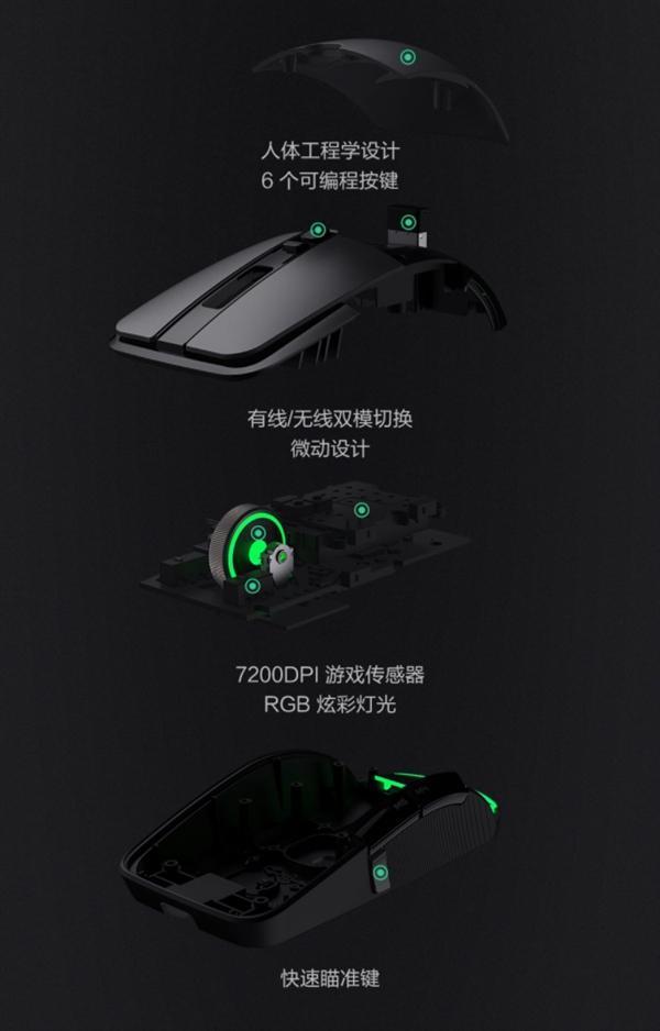 249元 小米游戏鼠标发布:有线/无线双模的照片 - 3