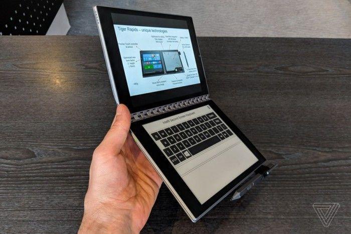 英特尔概念笔记本Tiger Rapids上手:E-INK屏替代键盘的照片 - 3