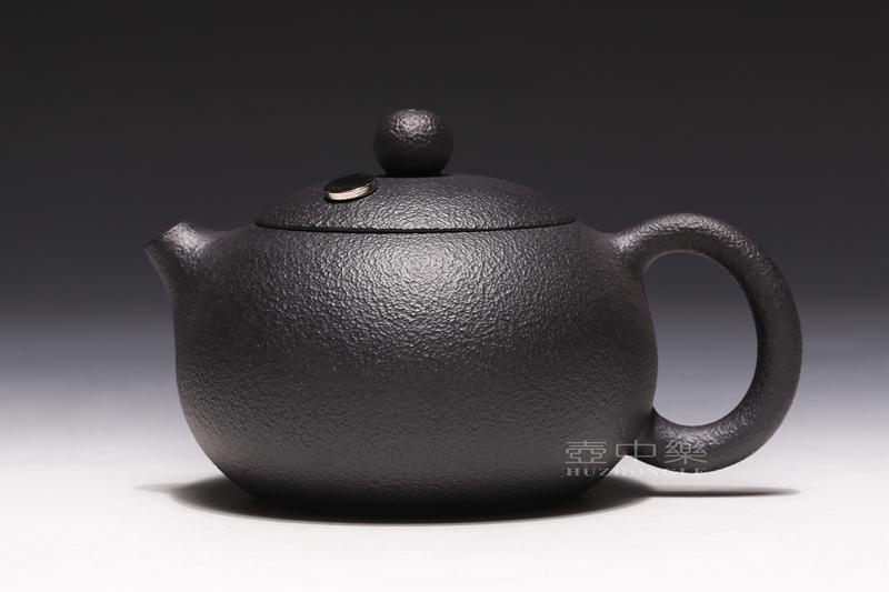宜兴紫砂壶-姚华君紫砂壶-黑铁砂西施(高含铁紫砂)