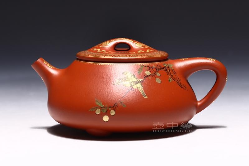 宜兴紫砂壶-吴赛春紫砂壶-如意石瓢