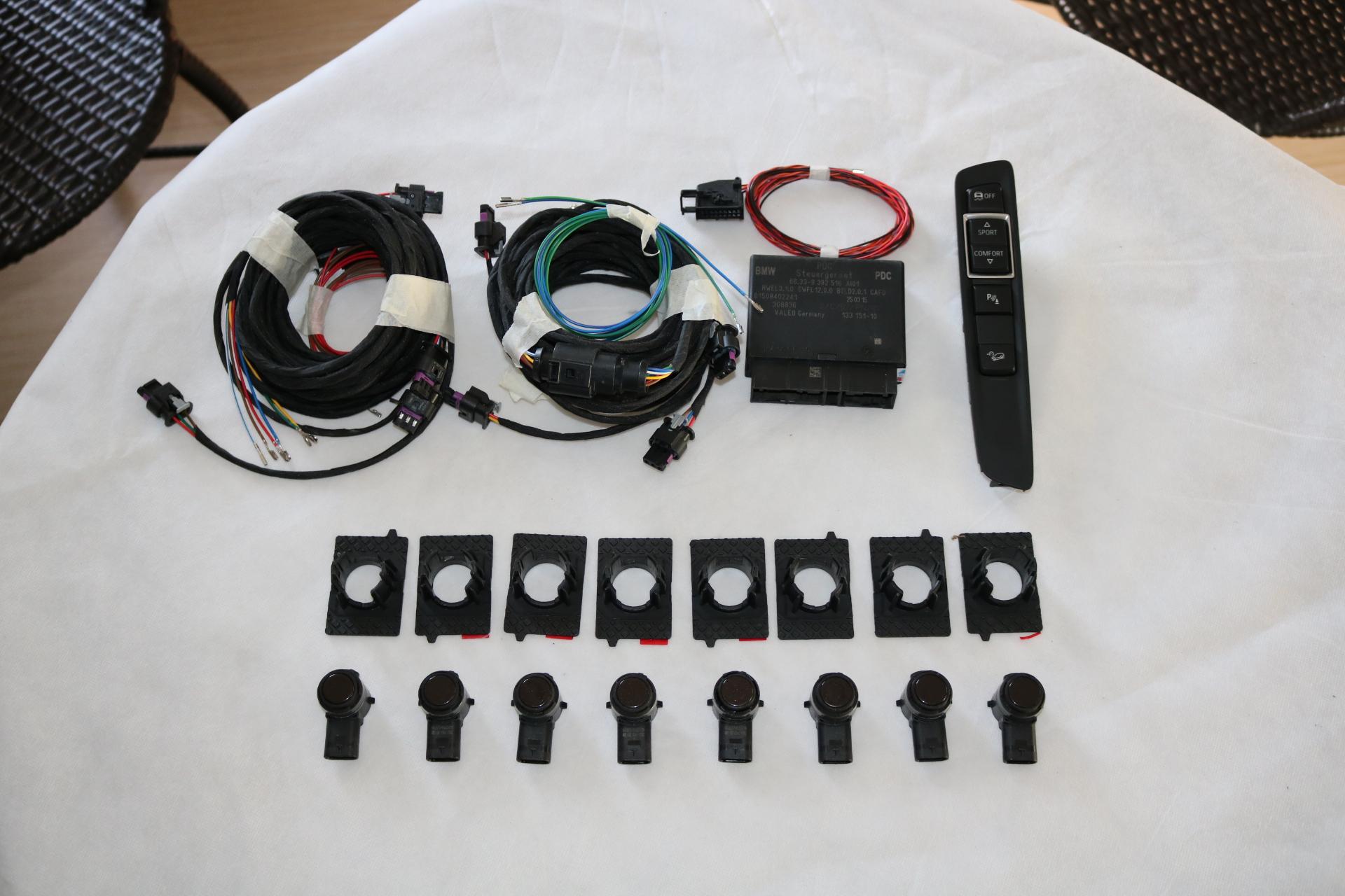 深圳改裝寶馬X5原廠前后雷達系統倒車系統