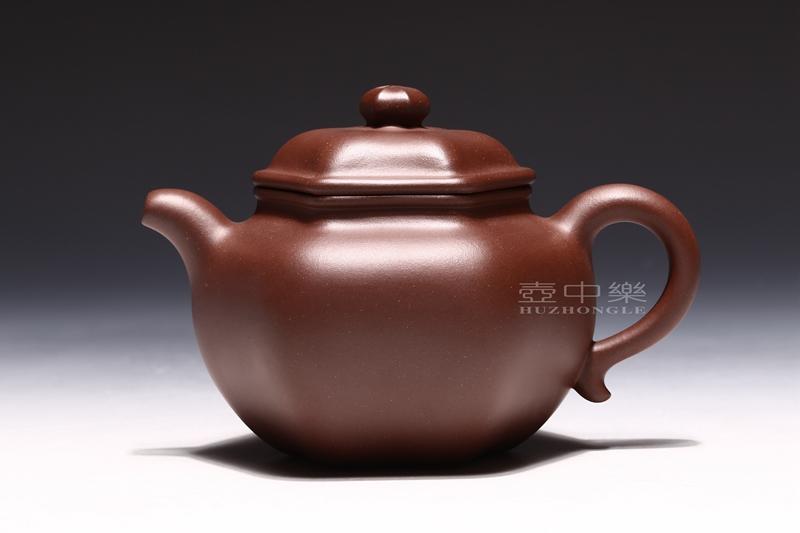 宜兴紫砂壶-研高鲍正兰紫砂壶-六方莲子-趣淘壶