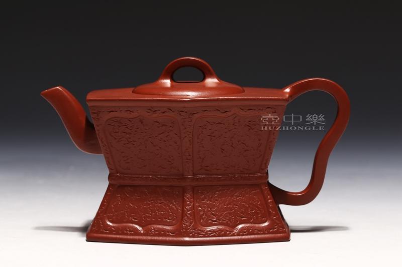 宜兴紫砂壶-陈亚萍紫砂壶-六方束腰-趣淘壶
