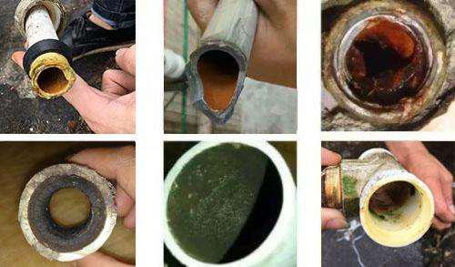 那次装修拆开用了两年的自来水管,它是这样的?