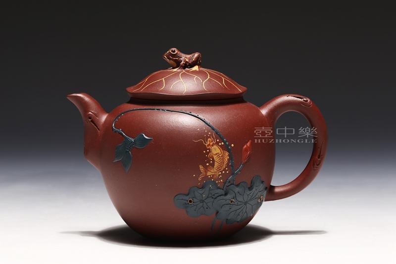 宜兴紫砂壶-郑求标紫砂壶-荷塘清趣-趣淘壶