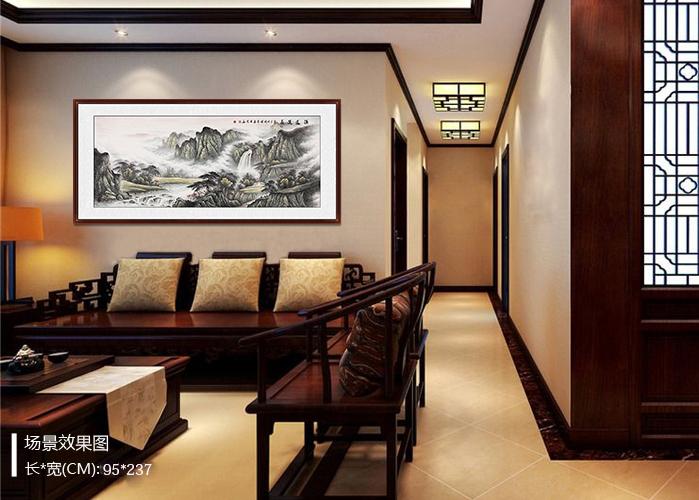 客厅装饰山水画 让高雅艺术国画融入生活