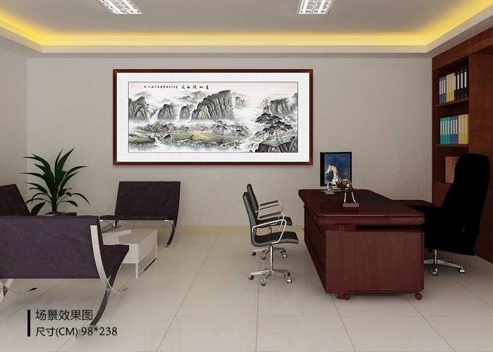 办公室挂的画 山水画缔造办公室强大气场