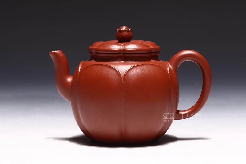 宜兴紫砂壶-王辉紫砂壶-大红袍静莲-趣淘壶