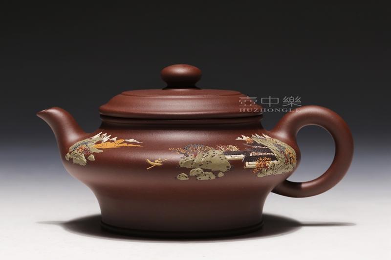 宜兴紫砂壶-虚扁壶-趣淘壶