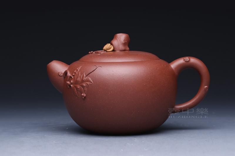 宜兴紫砂壶-松鼠葡萄壶-趣淘壶
