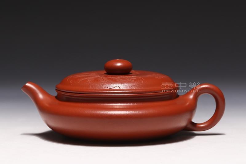 宜兴紫砂壶-扁腹壶-趣淘壶