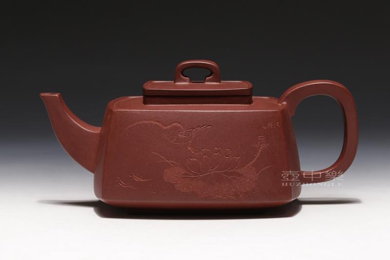 宜兴紫砂壶-菱形四方壶-趣淘壶