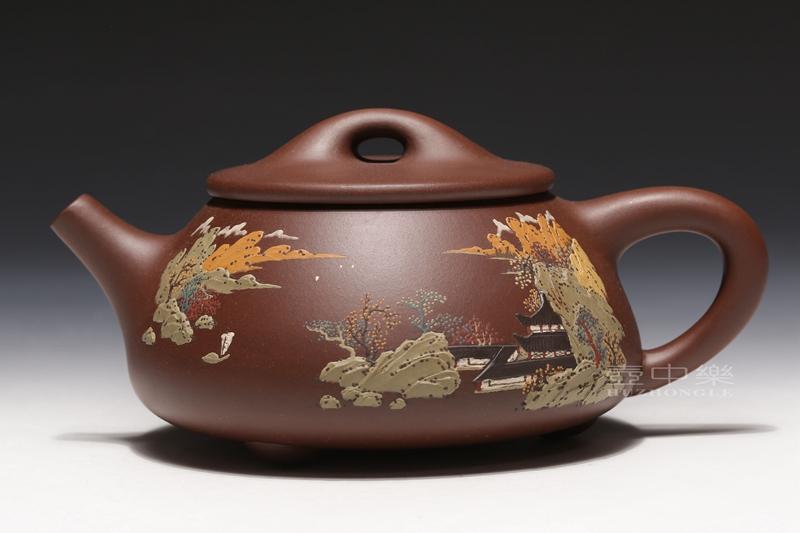 宜兴紫砂壶-石瓢壶-趣淘壶