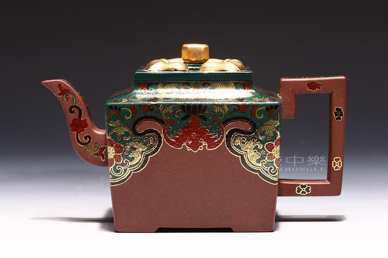 宜兴紫砂壶-亚明四方壶-趣淘壶