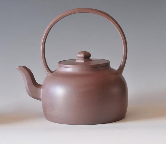 宜兴紫砂壶-大彬提梁-趣淘壶