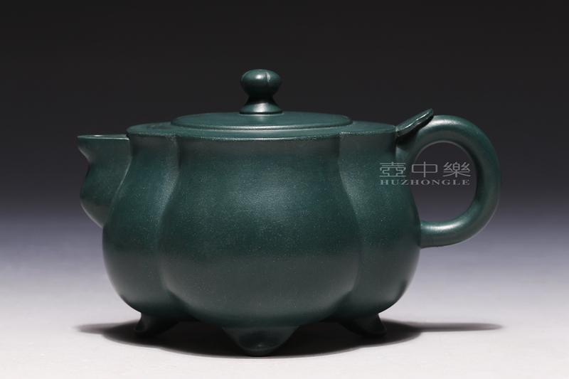 宜兴紫砂壶-合菱壶-趣淘壶