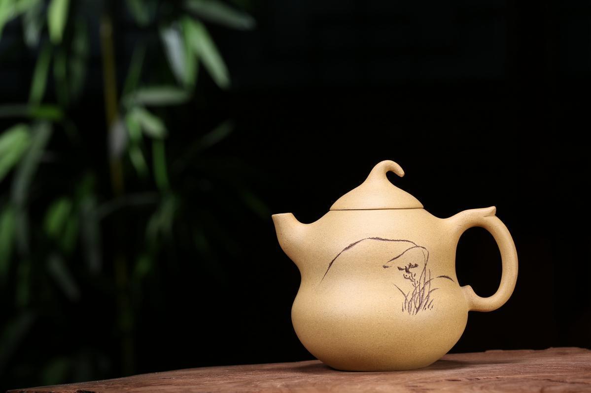 宜兴紫砂壶-葫芦壶-趣淘壶