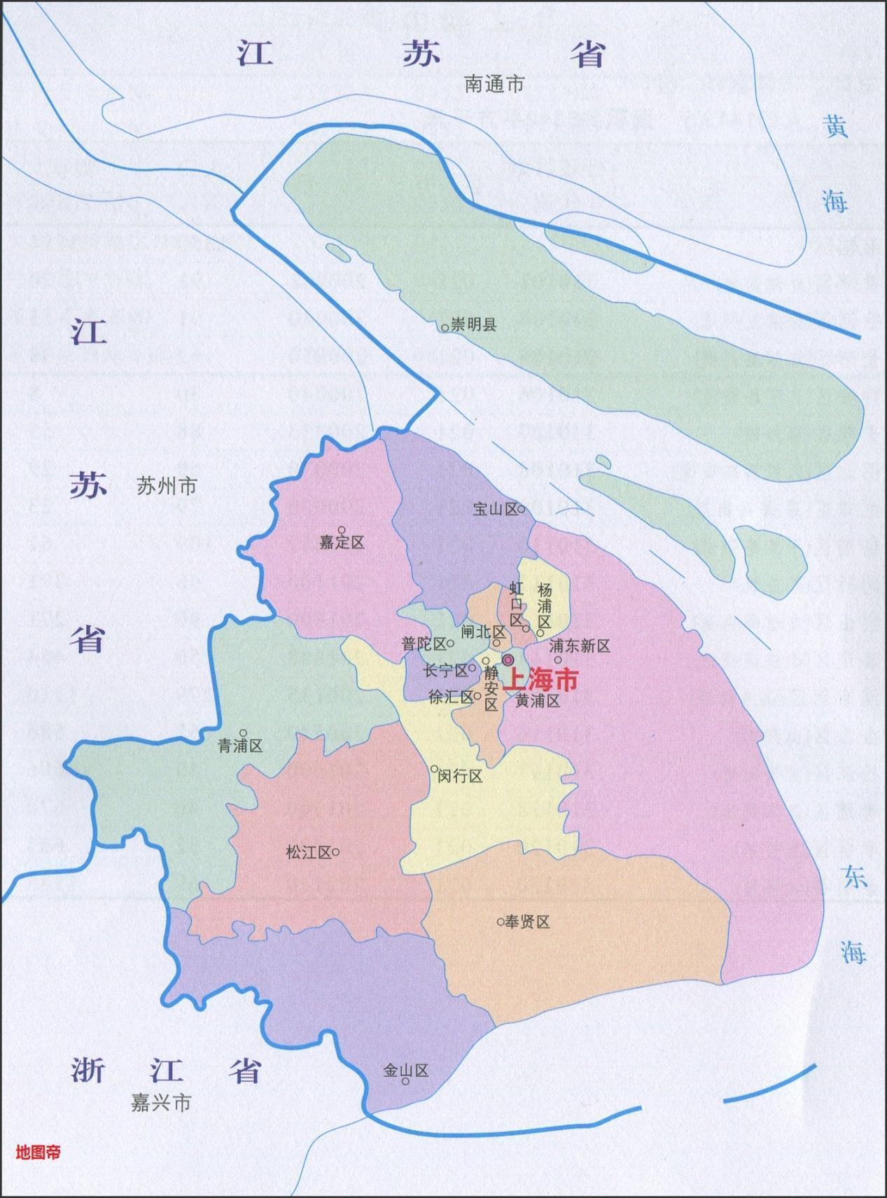 """地理趣味:上海在国内竟然有八块""""飞地""""?-福利巴士"""