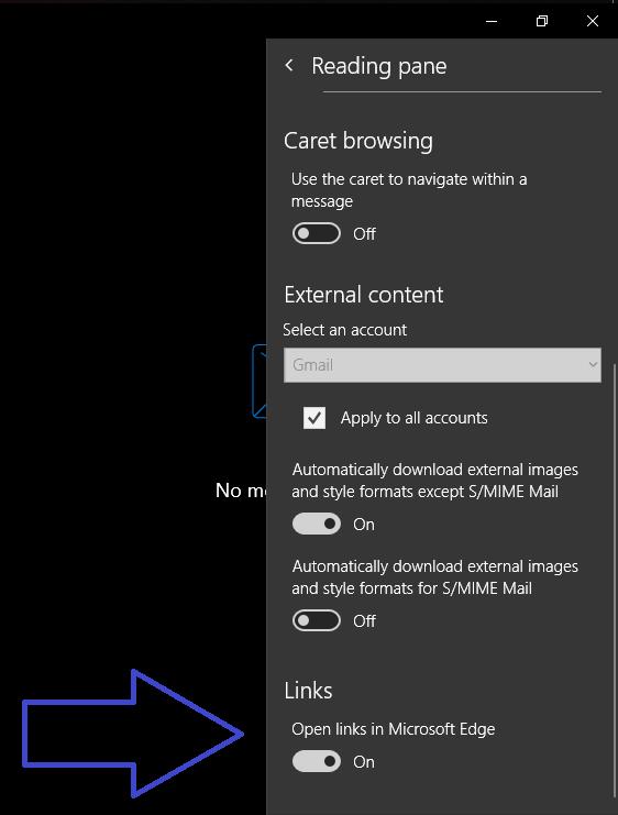 微软将不会强迫用户在自家Edge浏览器中打开邮件app内的链接的照片 - 2